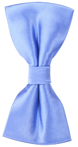 Solid Light Blue Silk Bow Tie