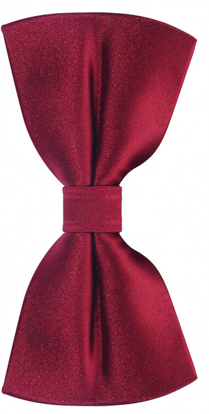 Solid Burgundy Silk Bow Tie