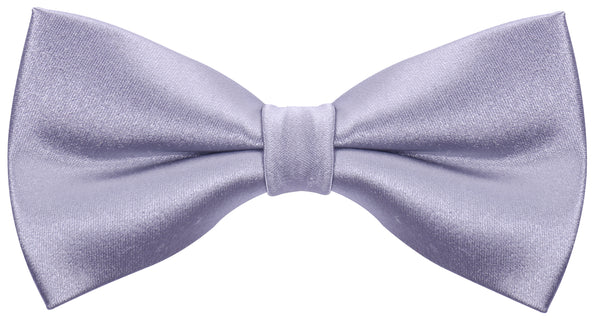 Solid Silver Silk Bow Tie - Scott Allan Collection