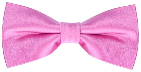 Solid Pink Silk Bow Tie - Scott Allan Collection