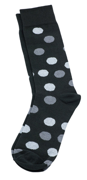 Necktie and Dress Sock Set (Black & Gray)
