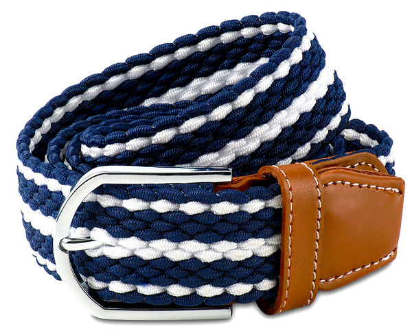 Men's Stretch Cord Braided Dress Belt