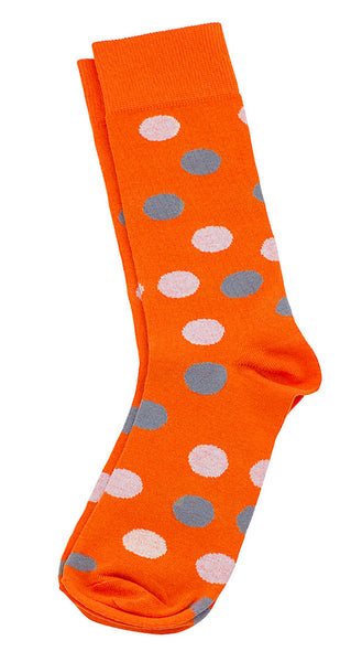 Necktie and Dress Sock Set (Orange & White)