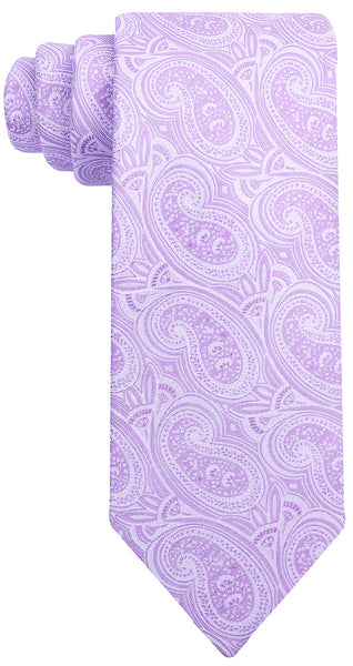 Purple Silk Paisley Necktie