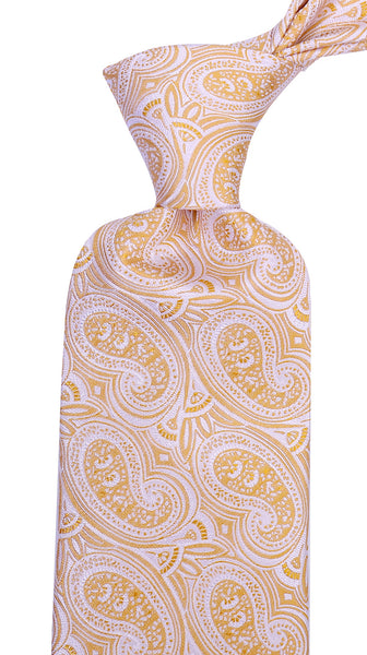 Yellow Silk Paisley Necktie - Scott Allan Collection