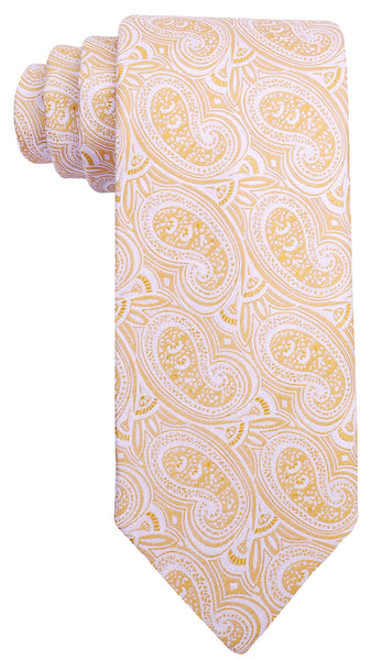Yellow Silk Paisley Necktie