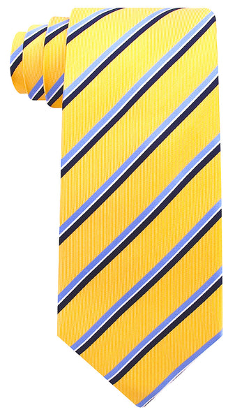 Yellow Silk Striped Necktie