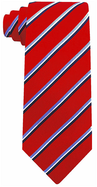 Burgundy Silk Core Striped Necktie