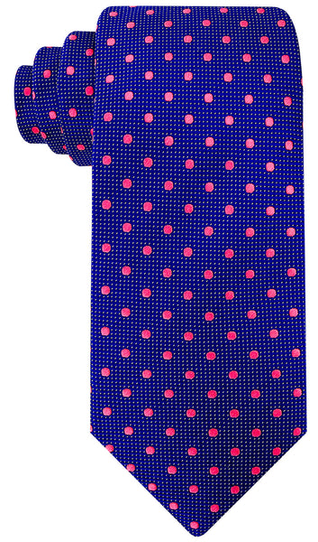 Navy Blue Silk Polka Dot Necktie
