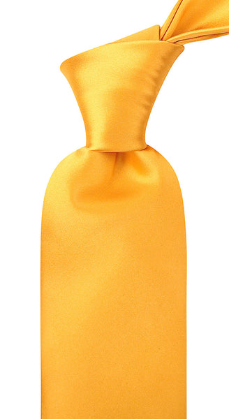 100% Silk Solid Cannery Yellow Necktie Set