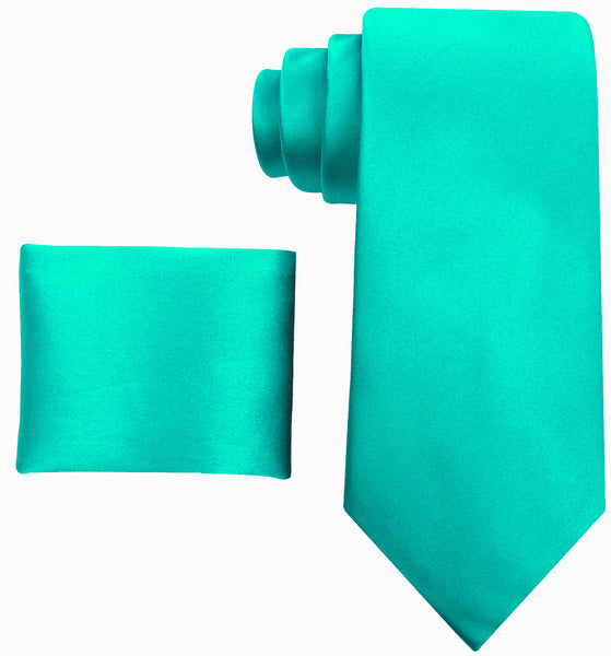 100% Silk Solid Necktie Set