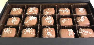 15pc Sea Salt Caramels milk chocolate