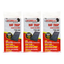 The Catchmaster 48R has proven it's ability to catch wild rats and mice under the toughest conditions possible-their own natural environment. These professional rat and mouse glue boards use long lasting, atmosphere-enduring, instant catch-on-contact glues. Plus, potent, irresistible food-scent attractants.