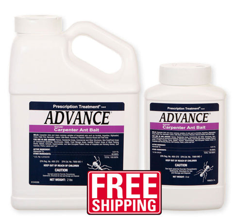 Advance Carpenter Ant Bait is specially formulated to kill carpenter ants. Carpenter Ant Bait can be used indoors and outdoors to control the ant population. This carpenter ant bait formulation provides for the carpenter ant's dietary needs while using the delayed-action insecticide Abamectin. This product works well when used with a gel bait such as Maxforce Carpenter Ant Bait Gel.