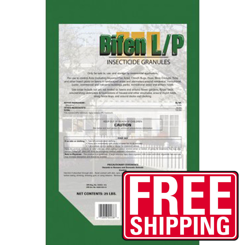 Control the most common pests in your lawn and garden areas with Bifen LP Granules (LP stands for lawn and perimeter). Bifenthrin Granules have the exact same label as the popular Talstar PL Granular. Bifen Granules are broadcast using a granular spreader, and remain effective for 2-4 months, supplying effective, long-term protection against insect pests around your home and business. Bifen granules will penetrate mulch and grass, with no watering needed.