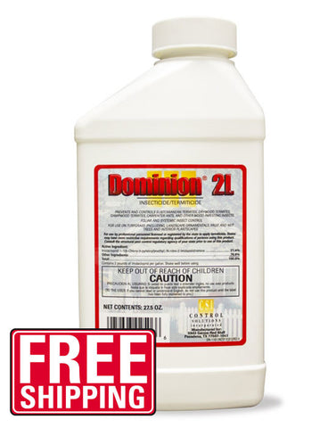 Dominion 2L is an excellent termiticide and insecticide used for subterranean, drywood, dampwood termites and carpenter ants that contains the exact same active ingredient and precentage as Premise 2 and I Maxx Pro 2F