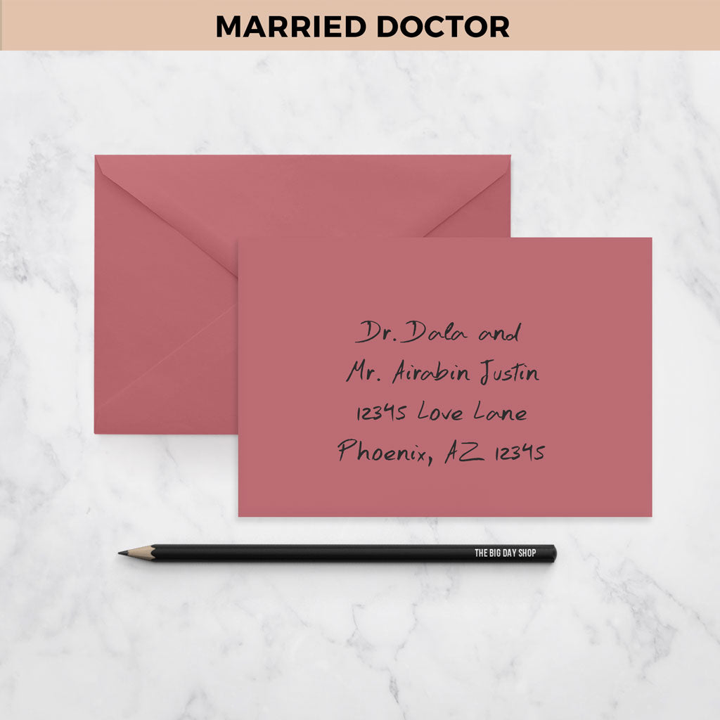 How To Address A Wedding Invitation Two Married Doctors On Addressing  Wedding Invitations Married Doctors Addressing