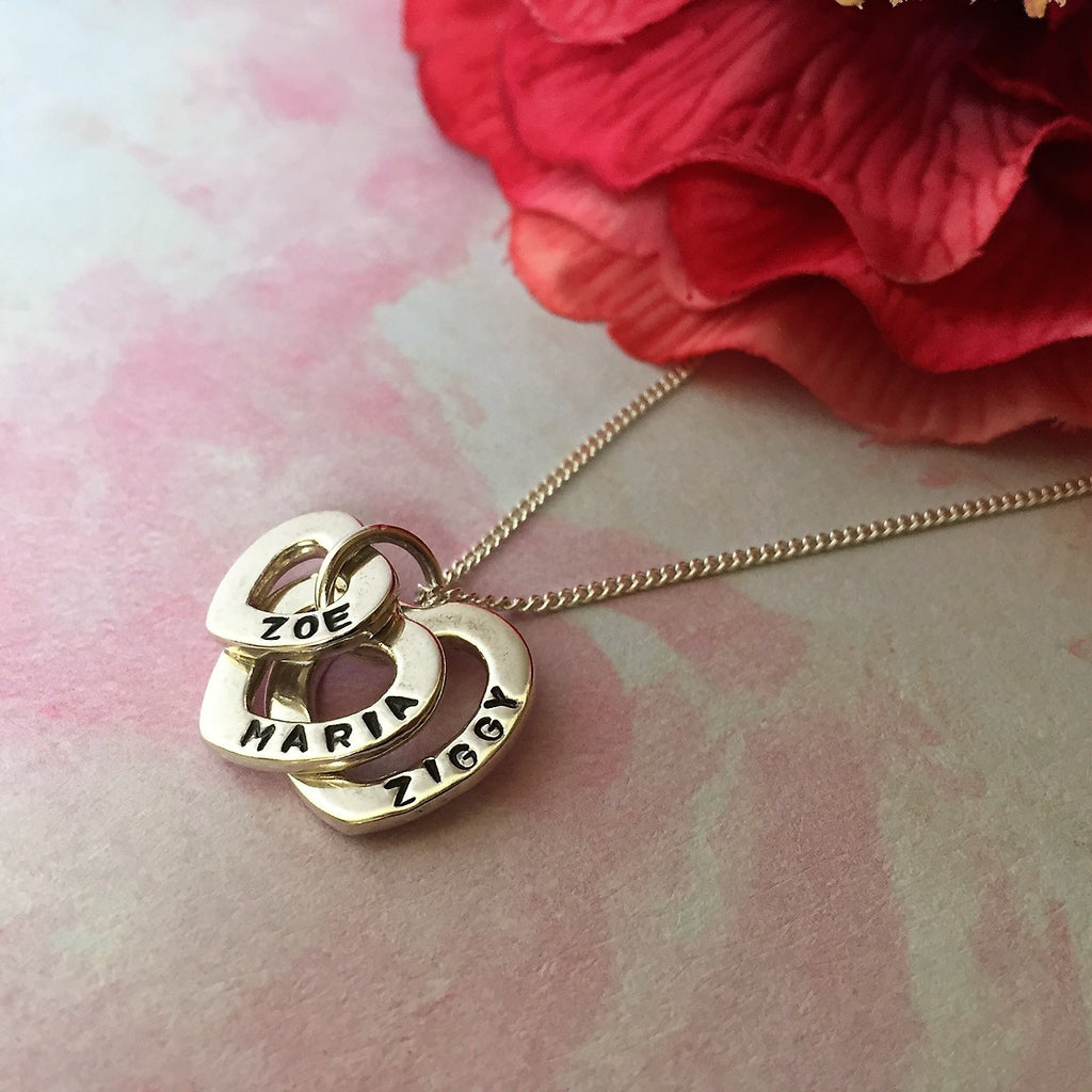 Personalised Hearts Pendant - SPP2302