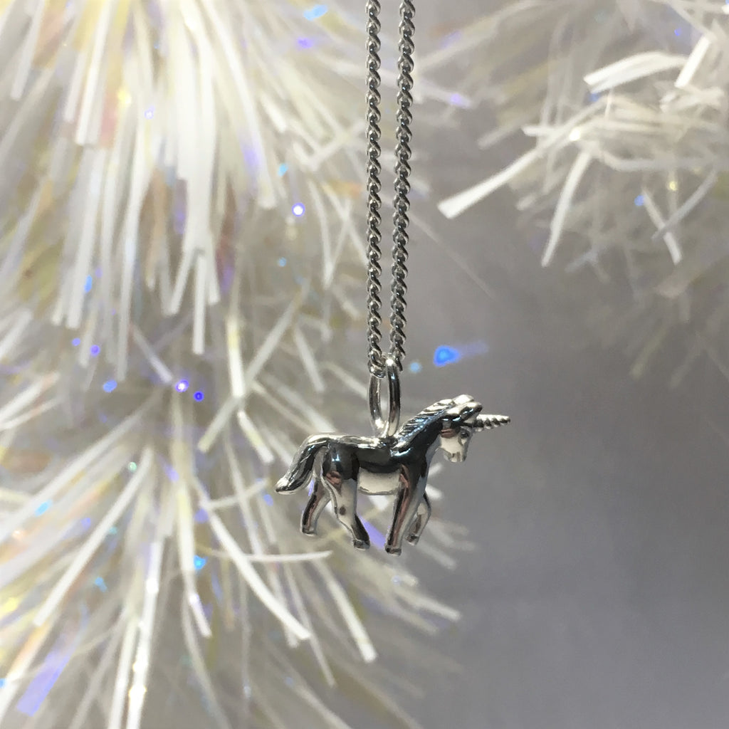 Silver Unicorn Pendant - SP2570