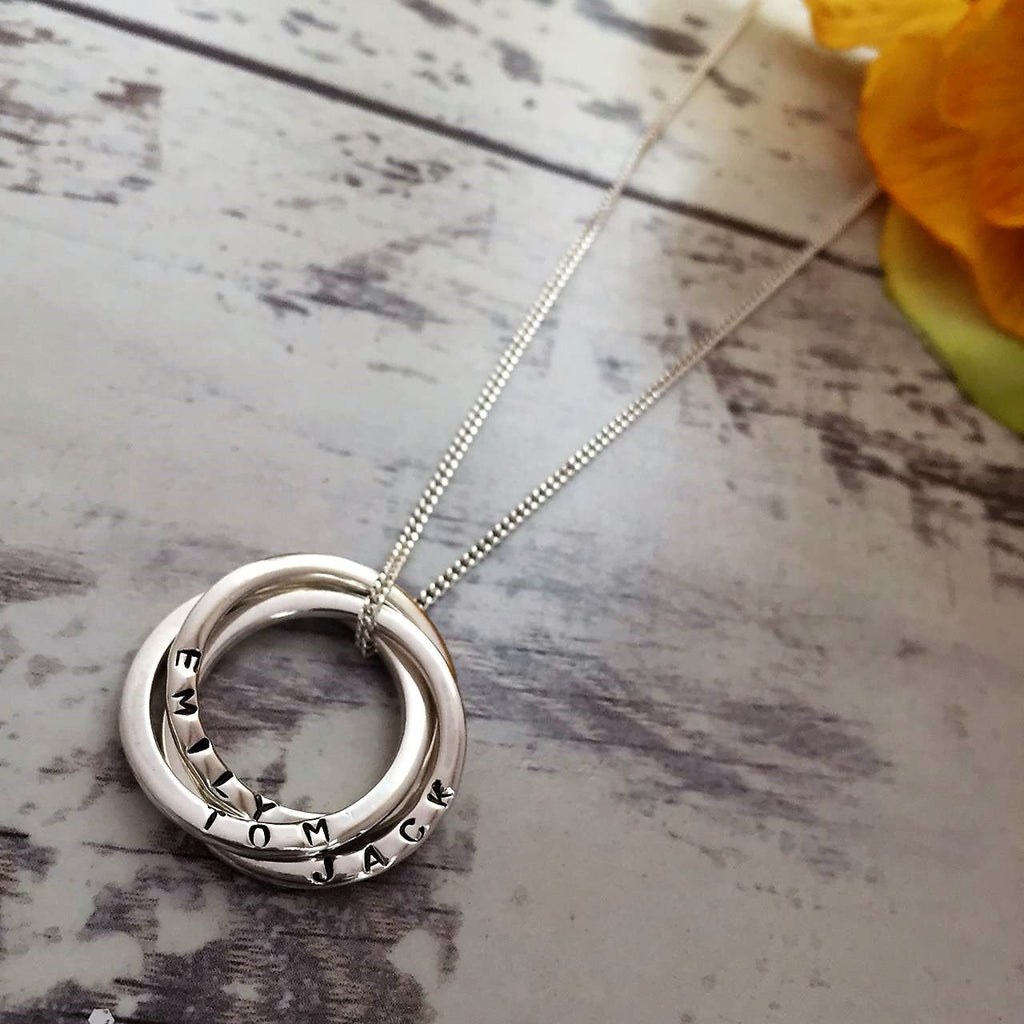 Personalised Trio Ring Pendant - SPP2298