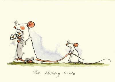 Blushing Bride greetings card - TBM101