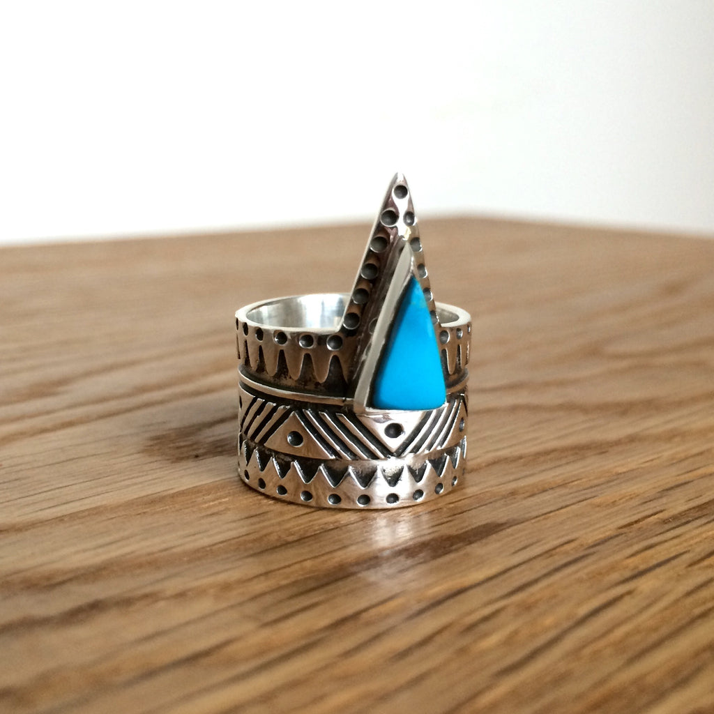 Blue Pyramid Ring - VR137