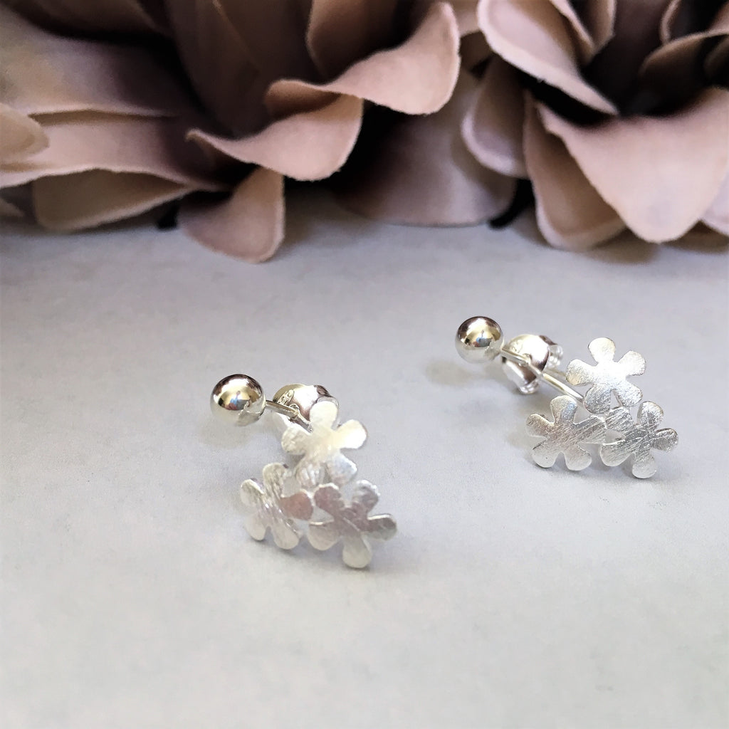 Frosted Posy Earrings - VE261