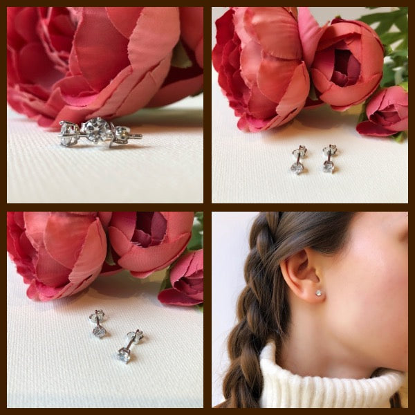Sparkling Solitaire Studs