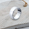 Silver Band Ring - SR107 Curved D Band - Sizes S - Z3