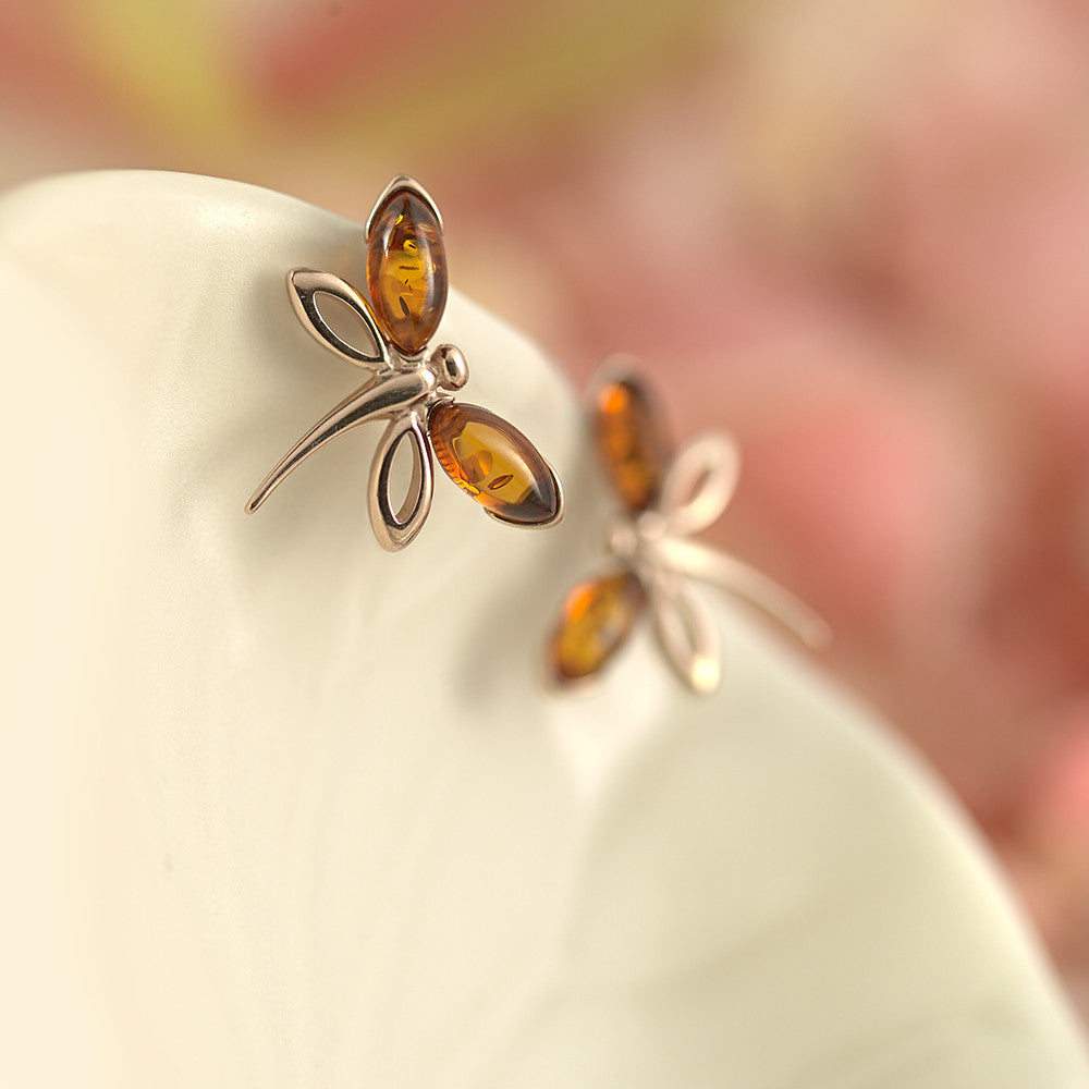 Dragonfly Fire Stud Earrings - AE3956