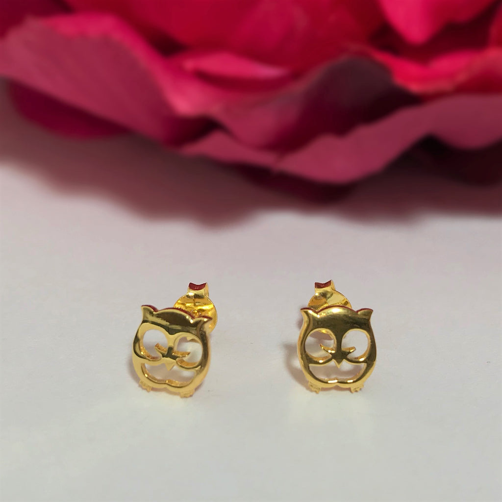Golden Owl Earrings - VE407