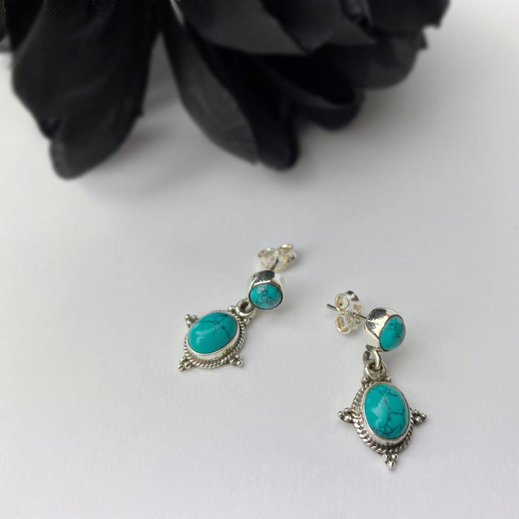 Boho Blue Earrings - VE257