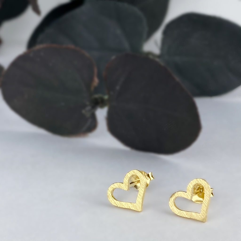 Sunrise Heart Stud Earrings - VE550