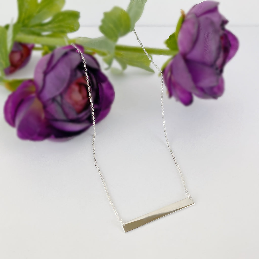 Silver Bar Necklace - SCHN866