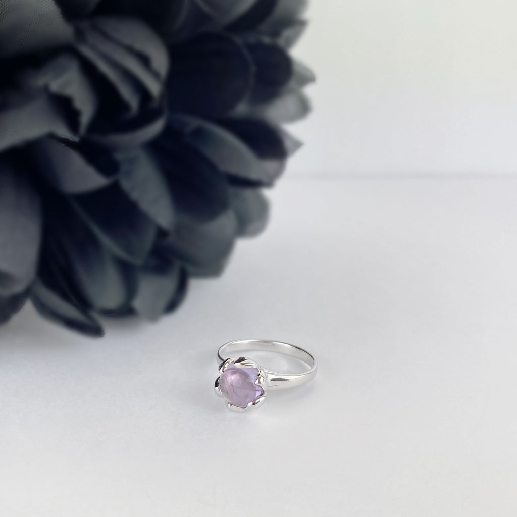 Lilac Lotus Ring - SR1981