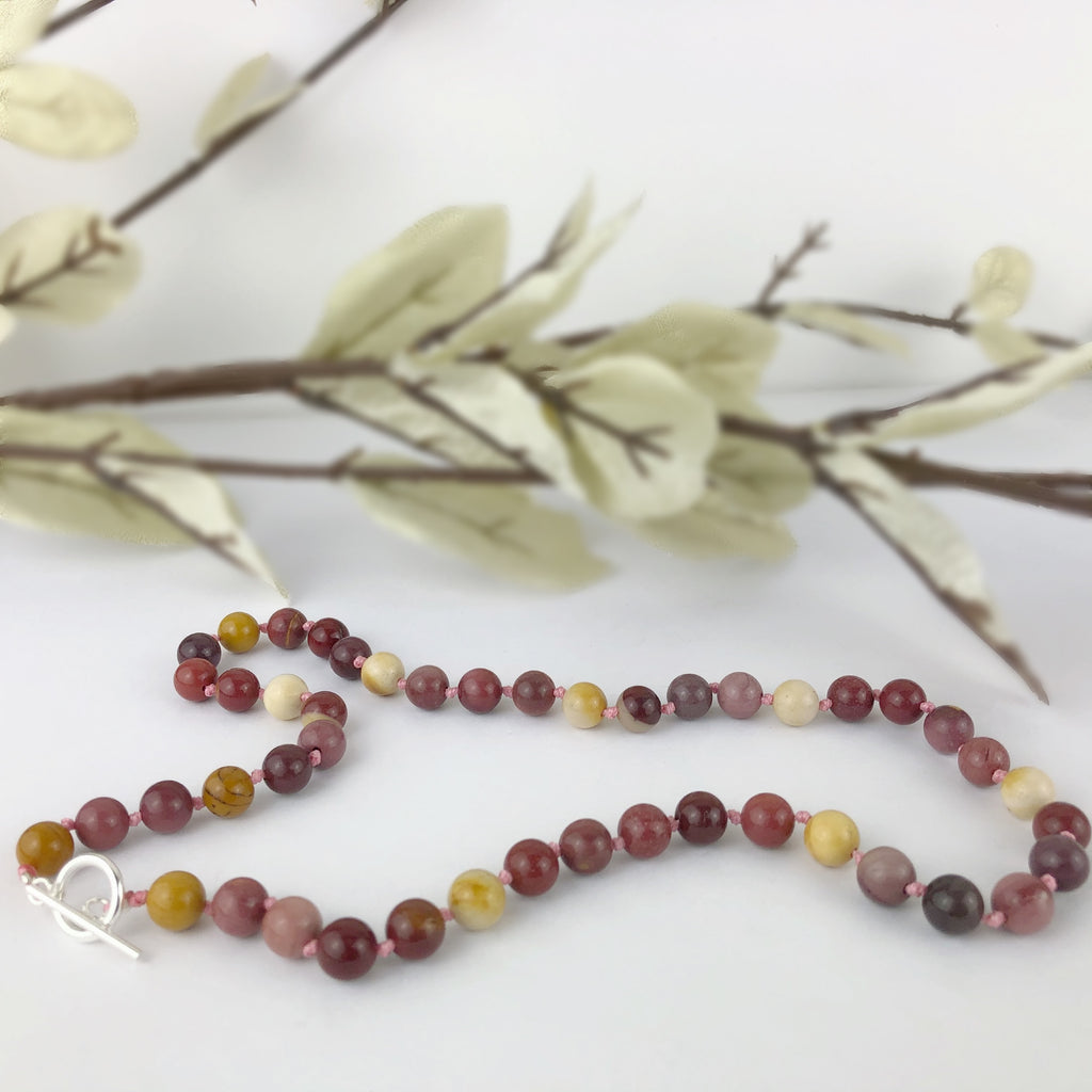 Mookite Jasper Bead Necklace - VNKL229