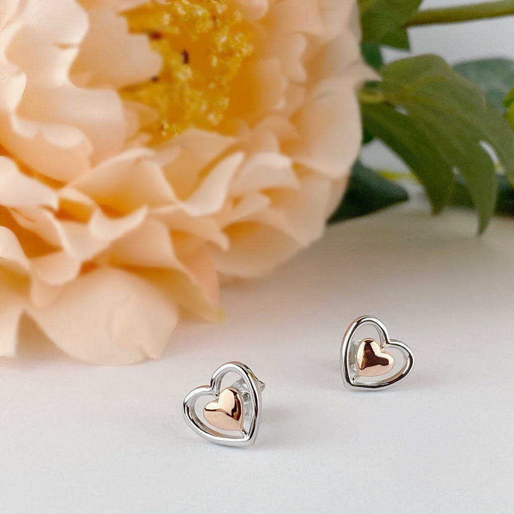 Golden Heart Earrings - SE4887