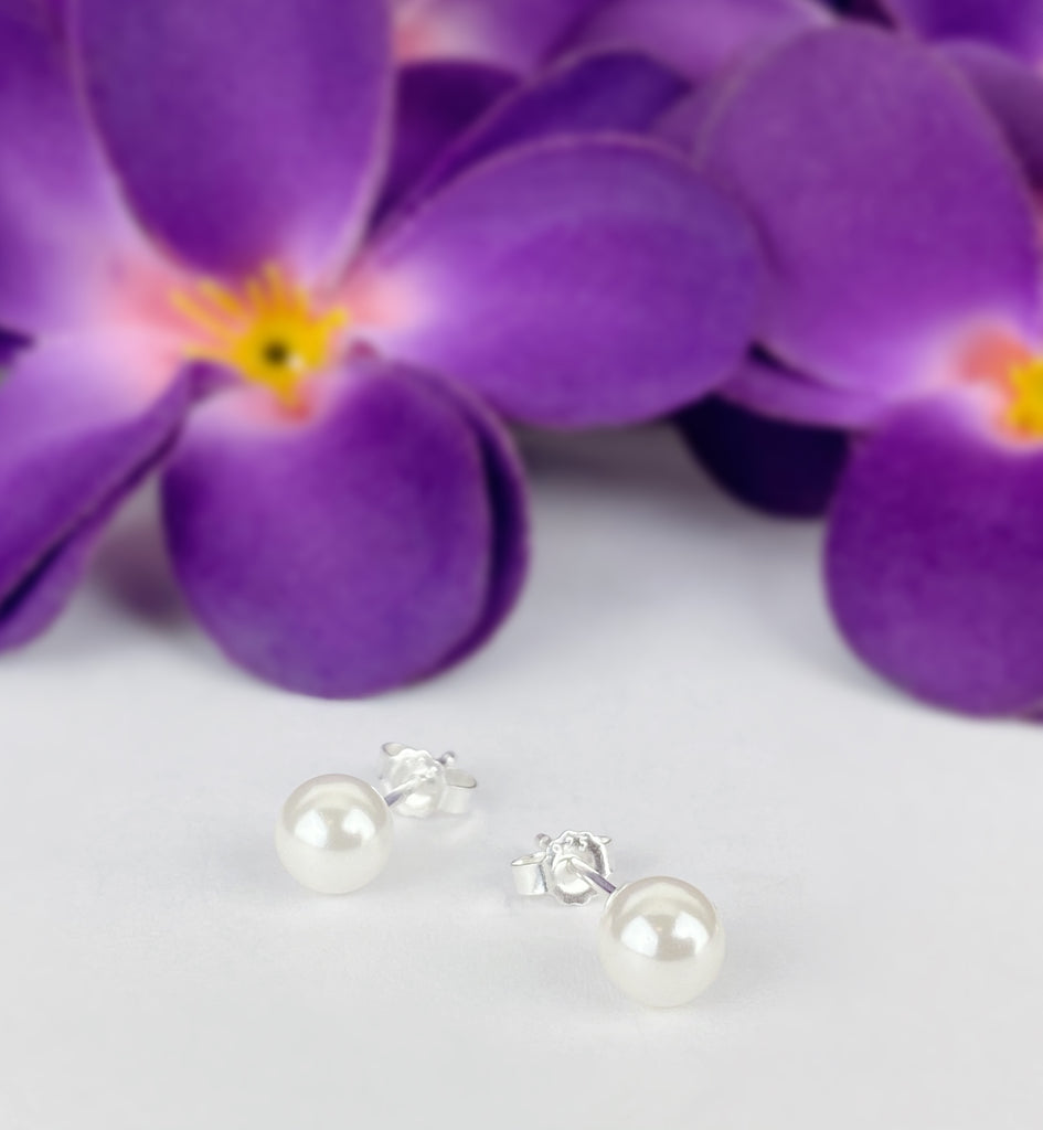 Simple Pearl Studs - VE556