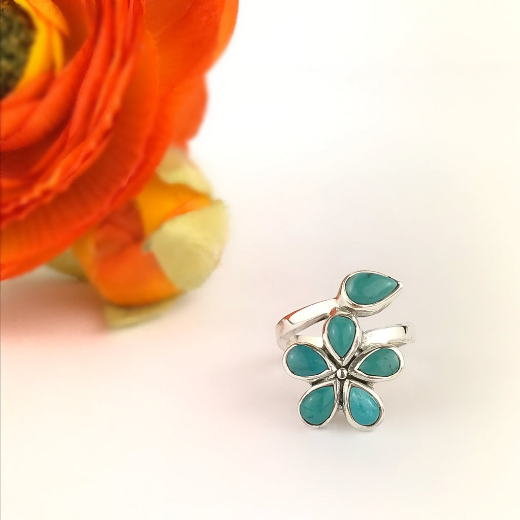 Turquoise Corsage Ring - VR367