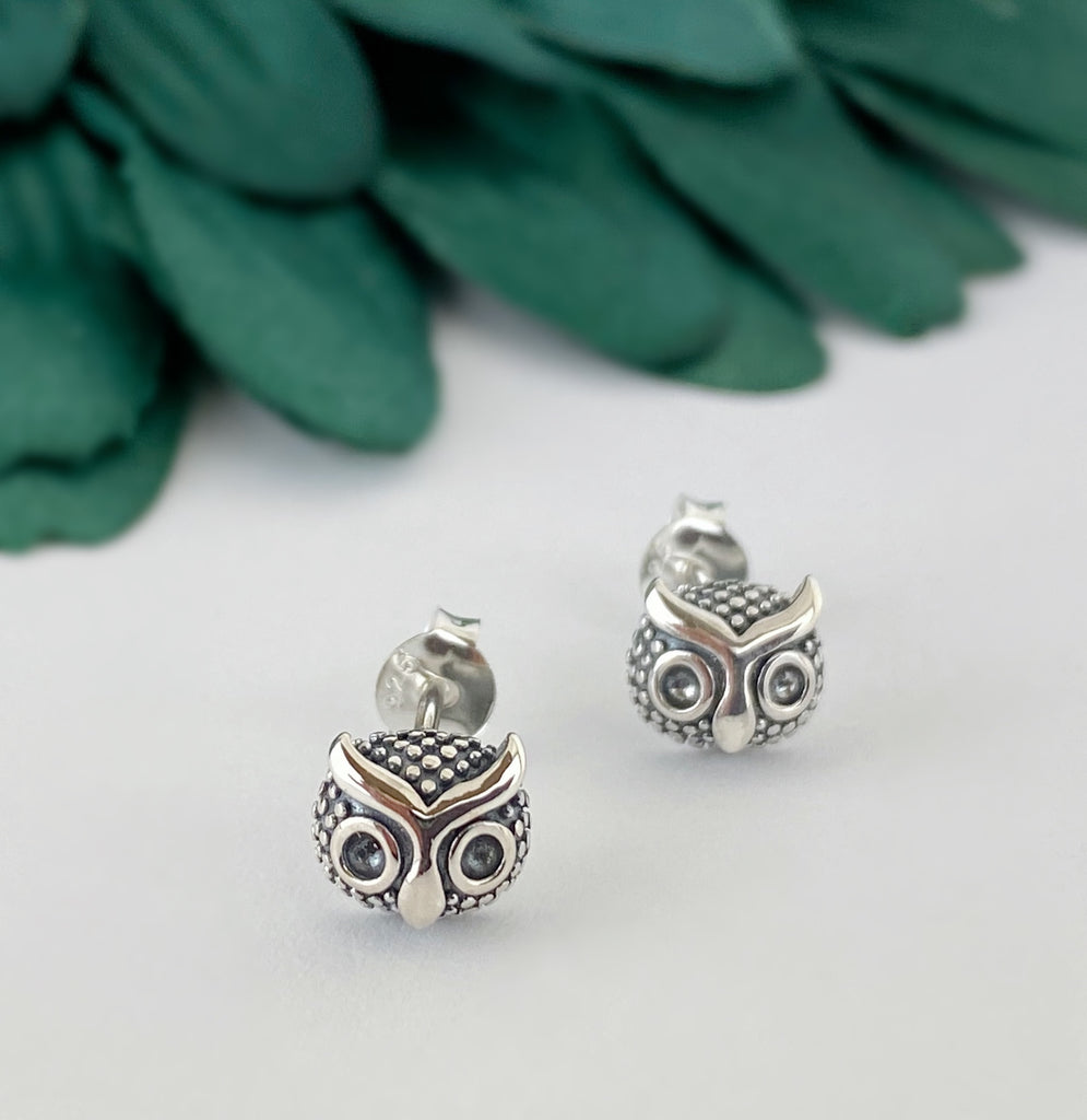 Night Owl Stud Earrings - VE262