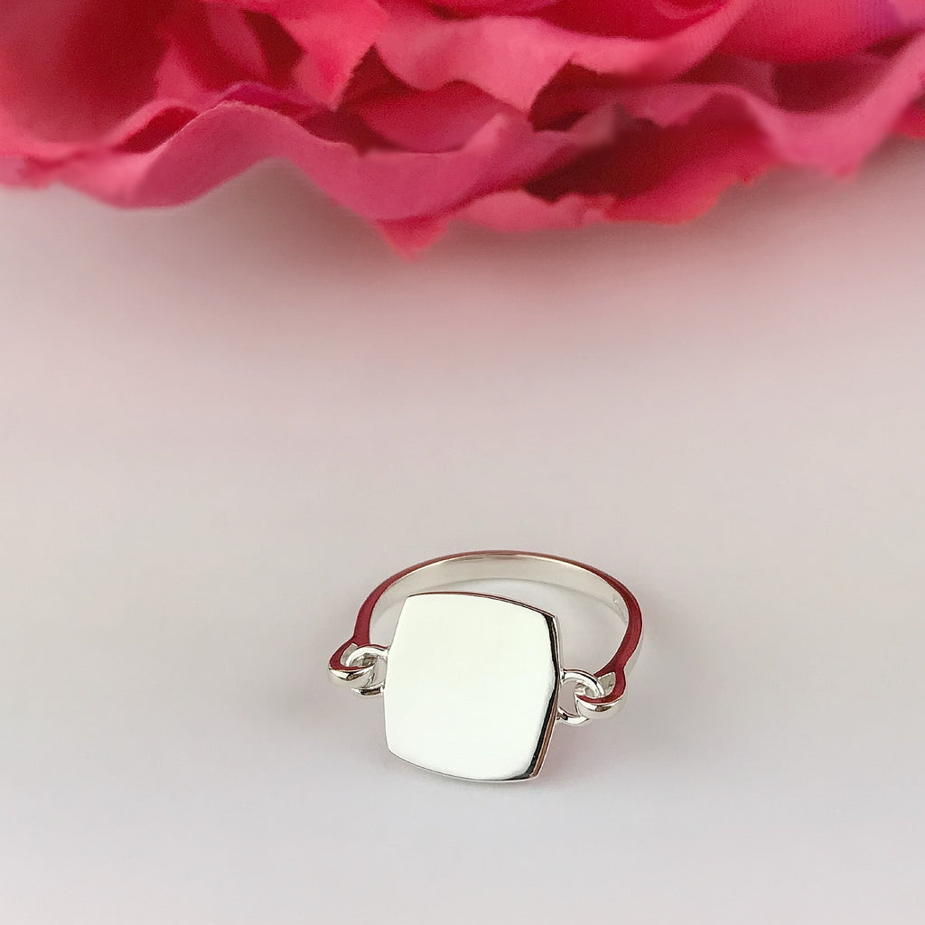 Silver Initial Ring - SR1682