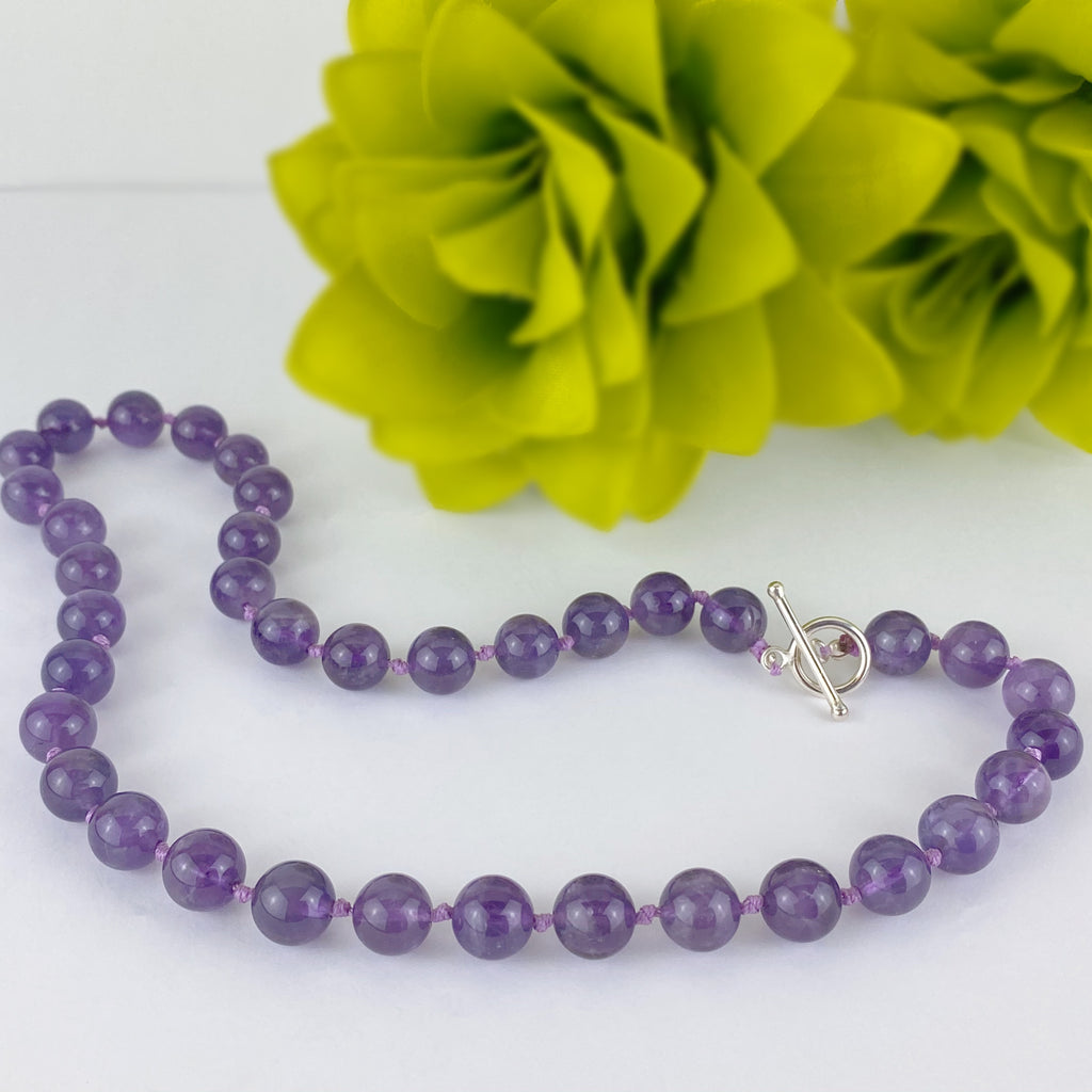 Amethyst Bead Necklace - VNKL237