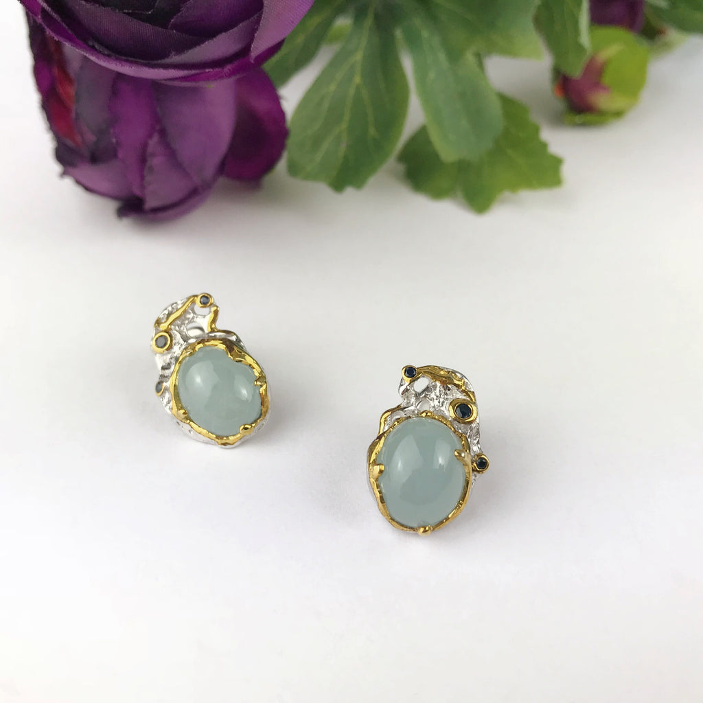 Aqua Treasure Earrings - VE449
