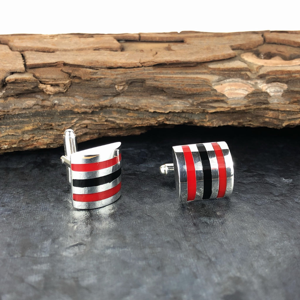 Racing Stripes Cufflinks - SCFL149