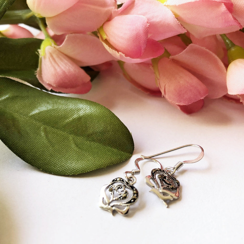 Vintage Rose Earrings - VE443