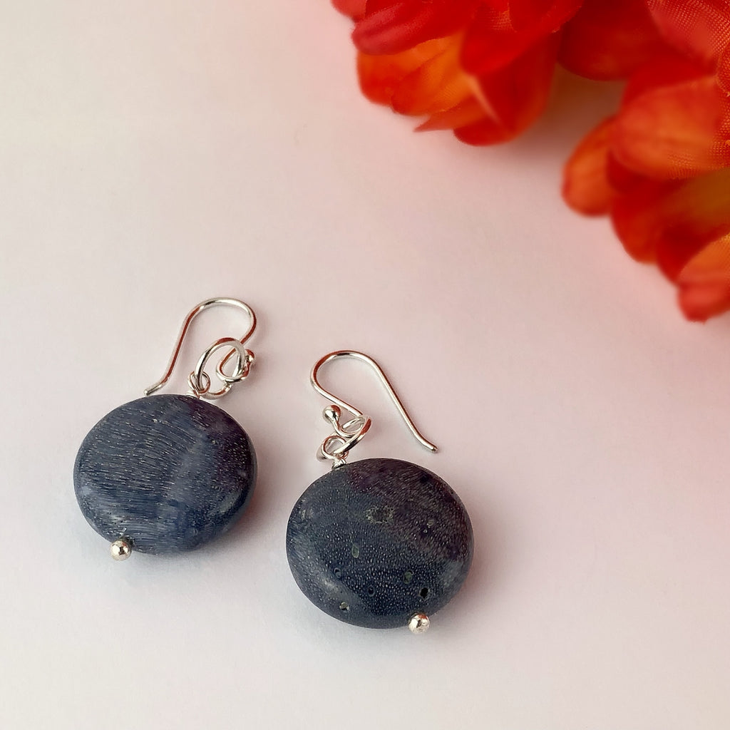 Blue Coral earrings - VE542