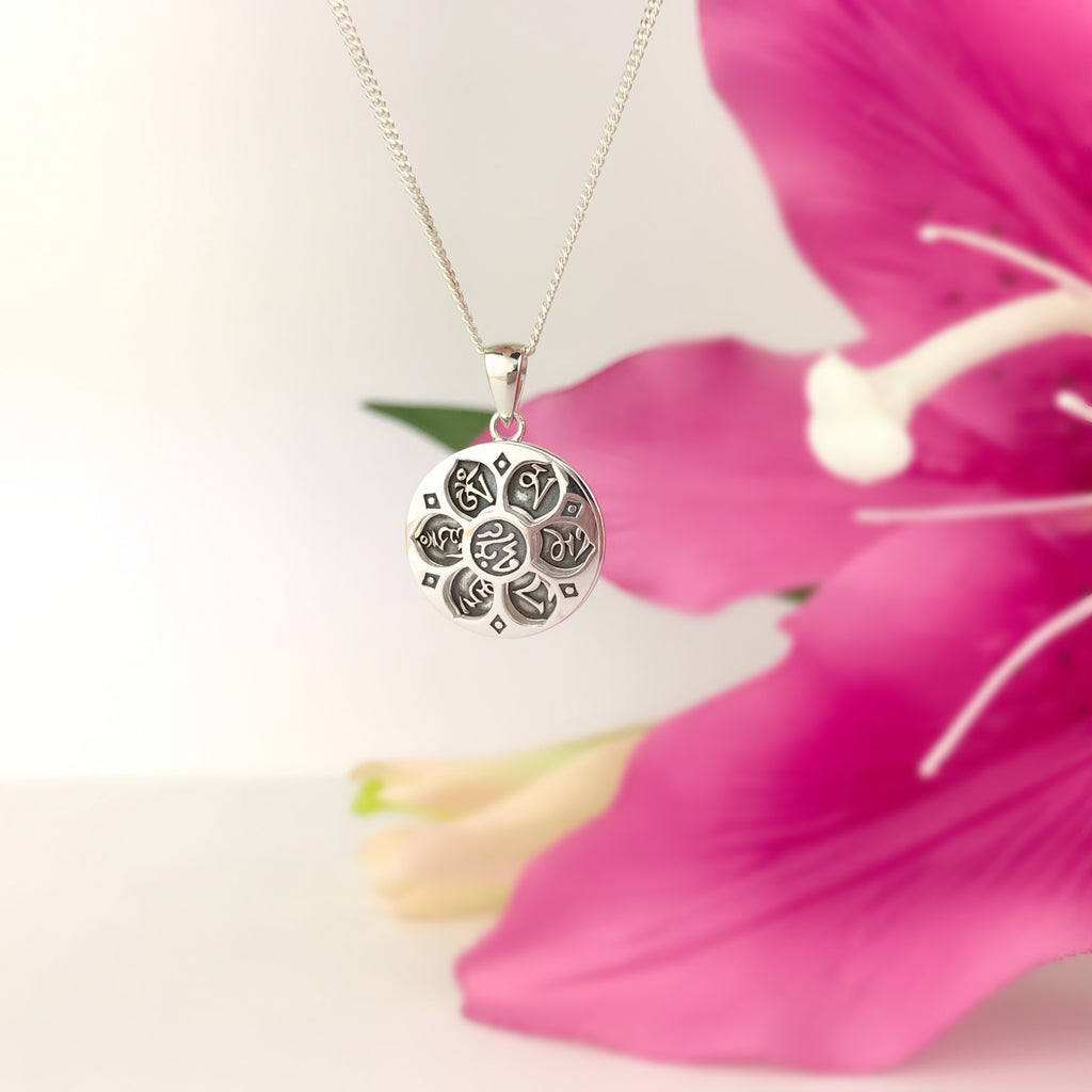 Mantra Wheel Pendant - SP2856