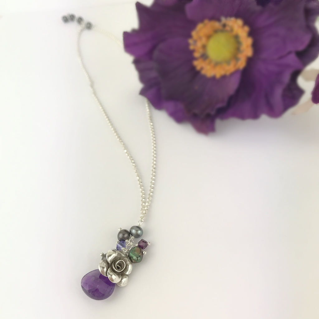 Purple Paradise Rose Pendant - VP