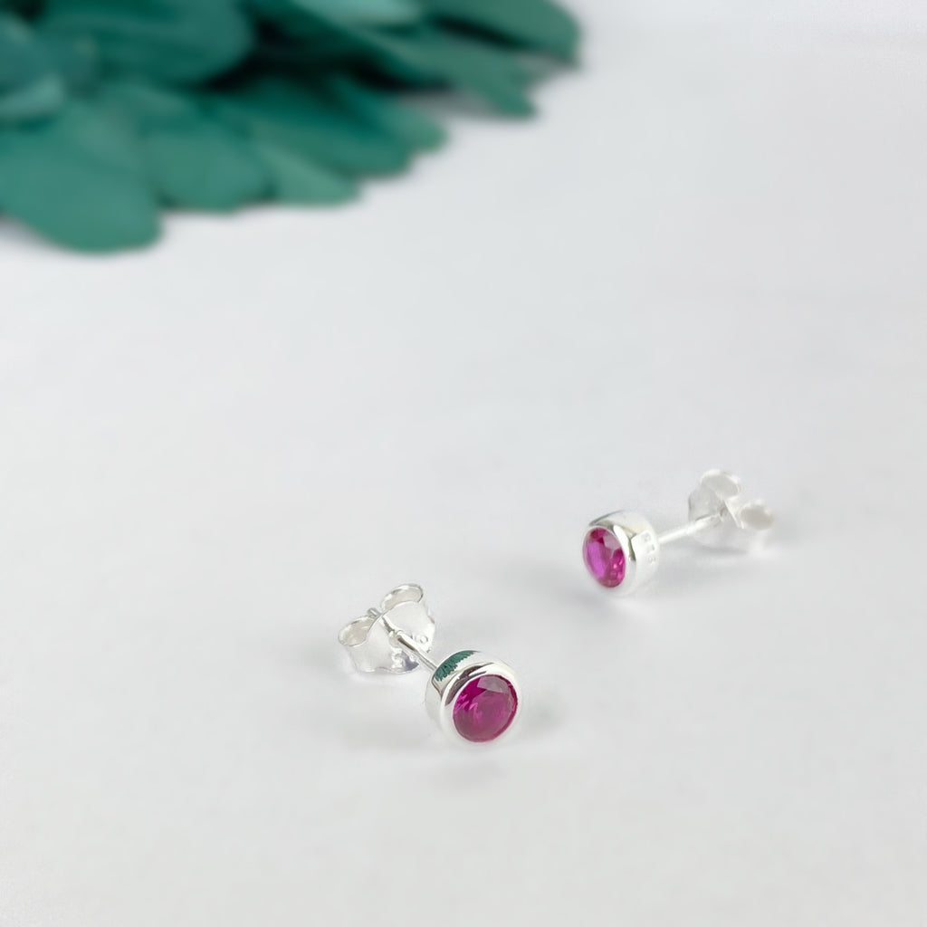 Ruby Sparkle Earrings (July) - SE5059