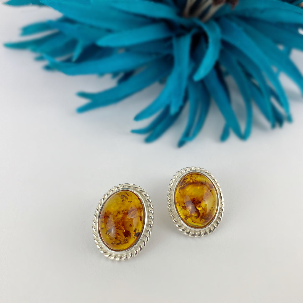 Sunlit Amber Earrings - VE573